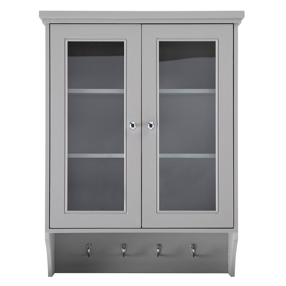 Wall Cabinets For Bathrooms Gazette 23 1 2 In W X 31 In H X 7 1 2 In D Bathroom Storage Wall Cabinet In Grey