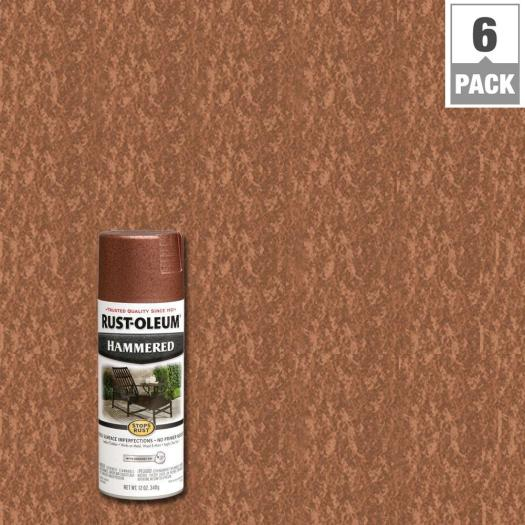 Rust Oleum Stops 12 Oz Protective Enamel Hammered Copper Spray Paint 6