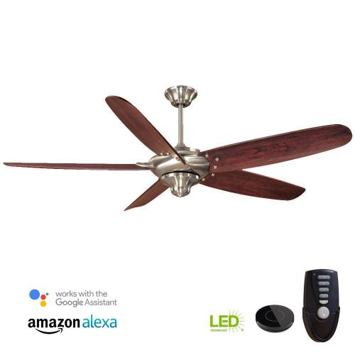 small resolution of indoor brushed nickel ceiling fan works with google