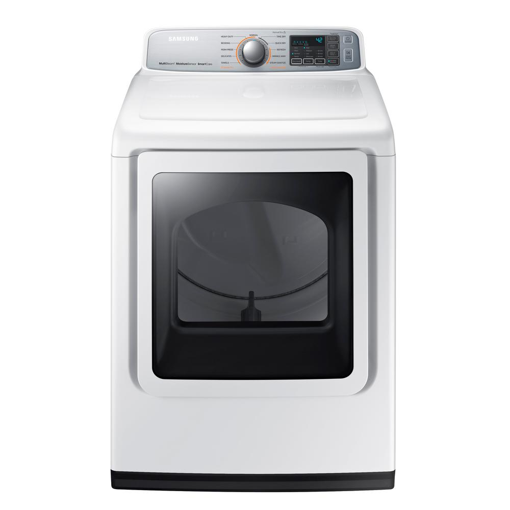 hight resolution of electric dryer with steam in white