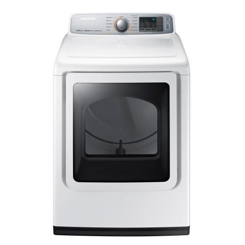 small resolution of electric dryer with steam in white