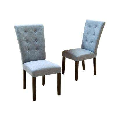 blue kitchen chairs back splash for kitchens dining room furniture the home depot angelina denim fabric set of 2
