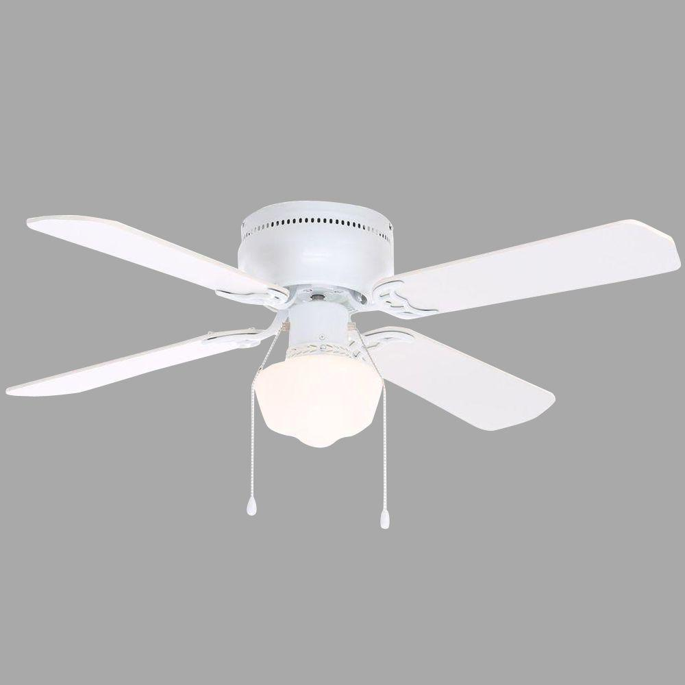 Hampton Bay Littleton 42 in. Indoor White Ceiling Fan with