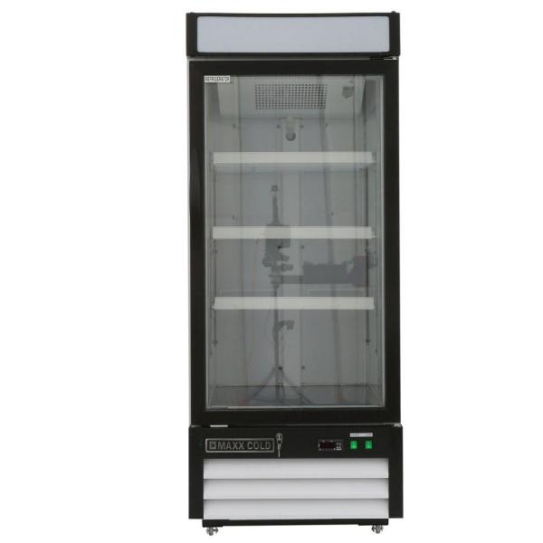 Maxx Cold X-series 12 Cu. Ft. Single Door Merchandiser Refrigerator In White-mxm1-12r - Home