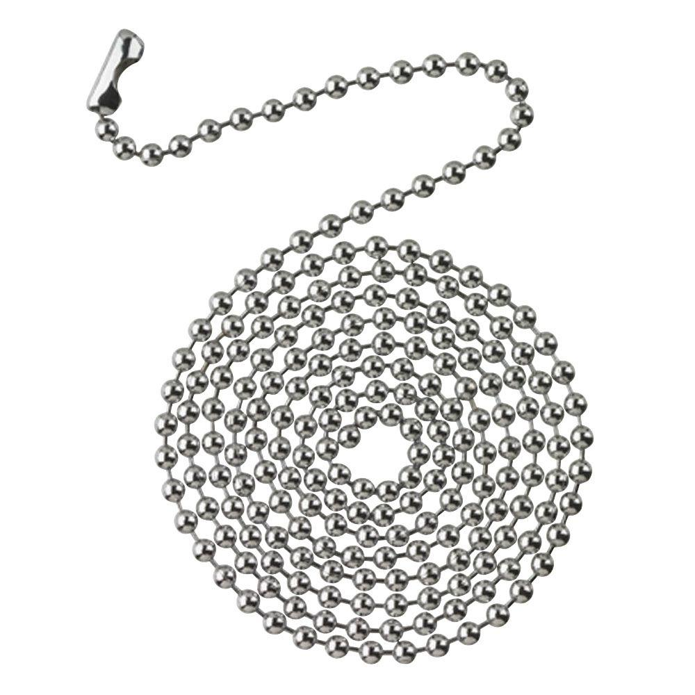 Commercial Electric 3 ft. Chrome Beaded Chain with