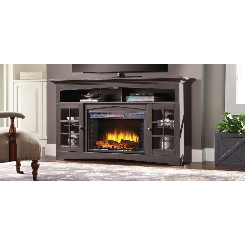 Muskoka Huntley 59 in Freestanding Electric Fireplace TV Stand in Espresso37019648KIT  The