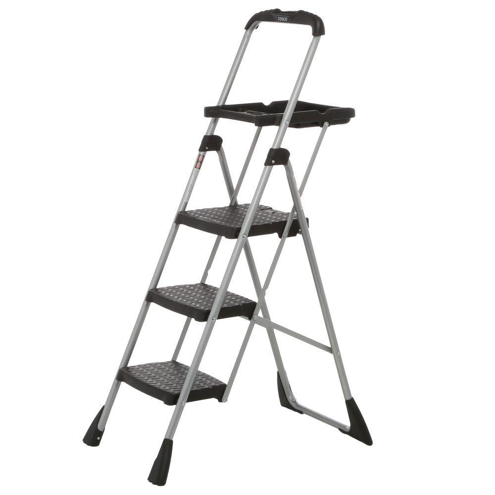 Cosco 4 ft. Steel Max Work Platform Ladder with 225 lbs