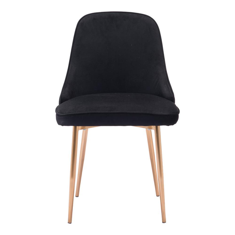 black velvet chair acrylic chairs ikea zuo merritt dining 100856 the home depot