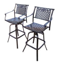 Ab Swivel Chair Round Rose Aluminum Outdoor Bar Stool 2 Pack Hd3022 Bs2 The