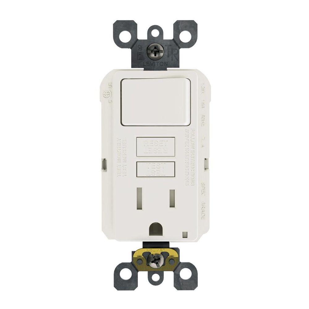 hight resolution of 15 amp 125 volt combo self test tamper resistant gfci outlet and switch white