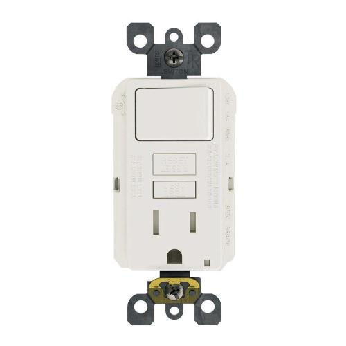 small resolution of 15 amp 125 volt combo self test tamper resistant gfci outlet and switch white