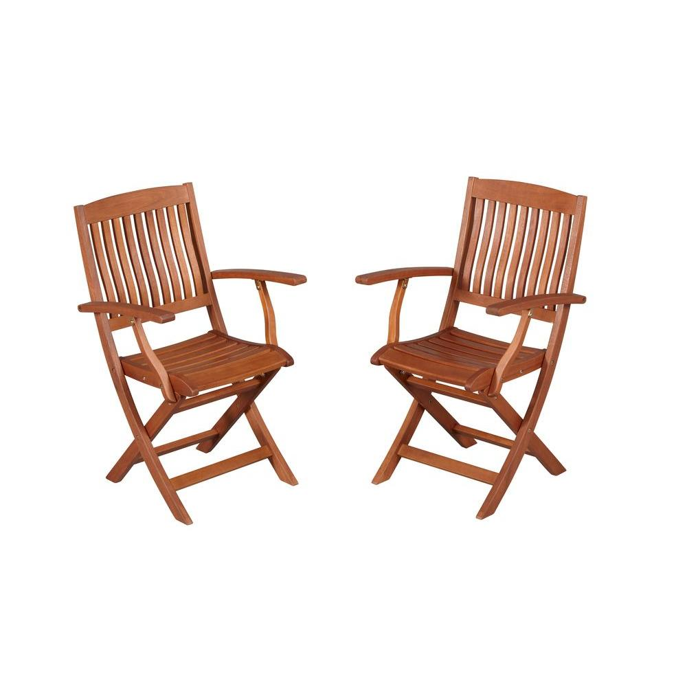 Kitchen Chairs Wood Hampton Bay Armchair Natural Oil Finish Folding Wood Outdoor Dining Chair 2 Pack