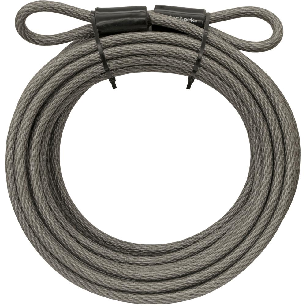hight resolution of master lock 70d 30 ft braided steel cable with looped ends and 3 8 in