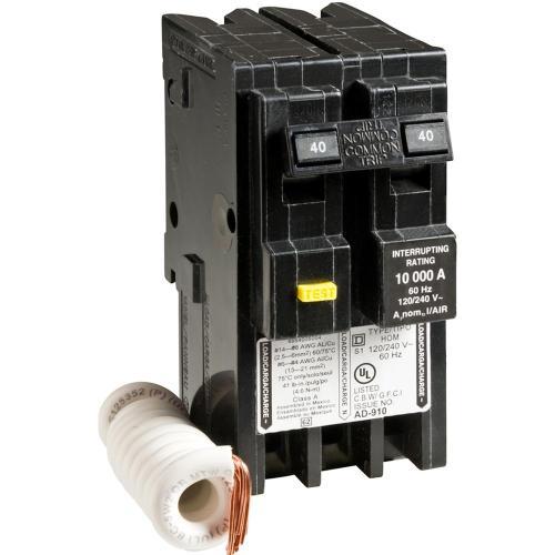small resolution of homeline 40 amp 2 pole gfci circuit breaker