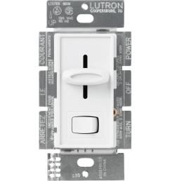 lutron skylark 600 watt single pole dimmer white [ 1000 x 1000 Pixel ]