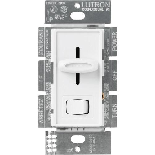 small resolution of lutron skylark 600 watt single pole dimmer white