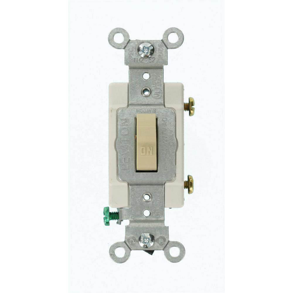 medium resolution of 15 amp 120 277 volt 1 pole commercial grade ac quiet toggle switch ivory