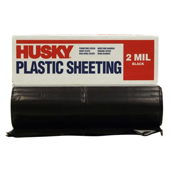 10 X 100 Ft. Black Plastic Sheeting Construction Paint Protection Thick Cover
