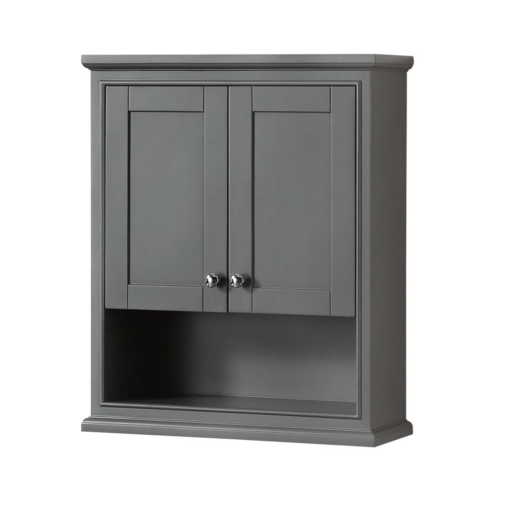 Wall Cabinets For Bathrooms Deborah 25 In W X 30 In H X 9 In D Bathroom Storage Wall Cabinet In Dark Gray
