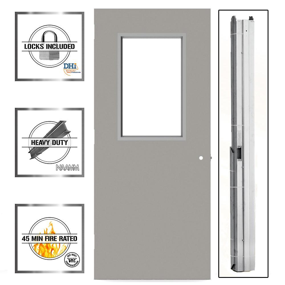 medium resolution of 36 in x 80 in gray flush steel vision light commercial