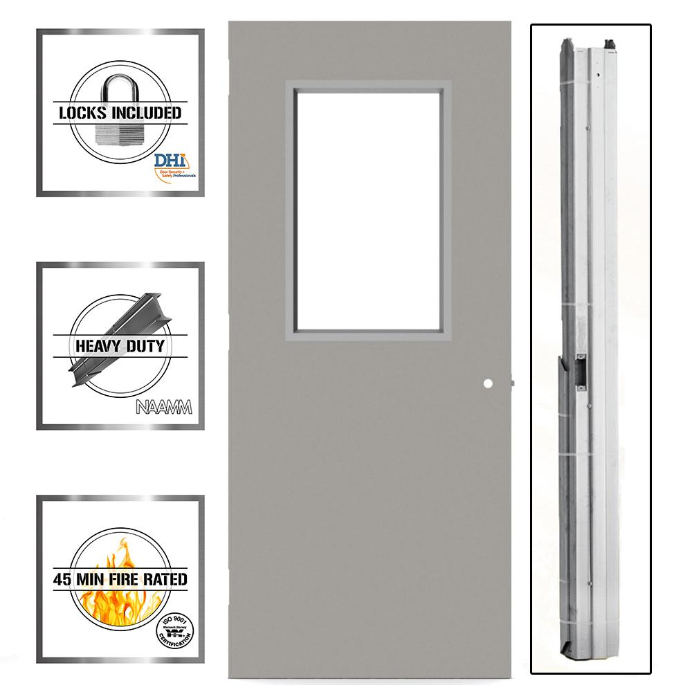 hight resolution of 36 in x 80 in gray flush steel vision light commercial