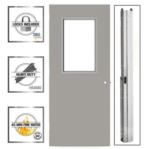 small resolution of 36 in x 80 in gray flush steel vision light commercial
