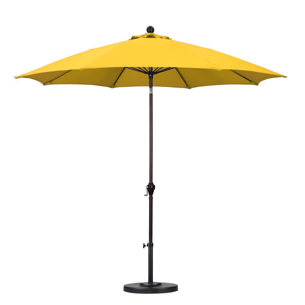 California Umbrella 9 ft Fiberglass Push Tilt Patio