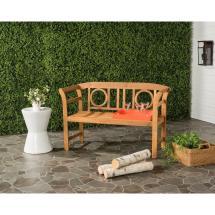 Safavieh Moorpark Outdoor 2 Seat Acacia Patio Bench In