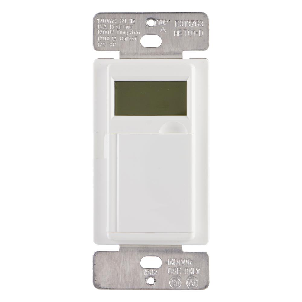 medium resolution of 15 amp 7 day in wall digital cfl led compatible timer