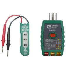 110 220v ac dc voltage tester with gfci outlet tester [ 1000 x 1000 Pixel ]