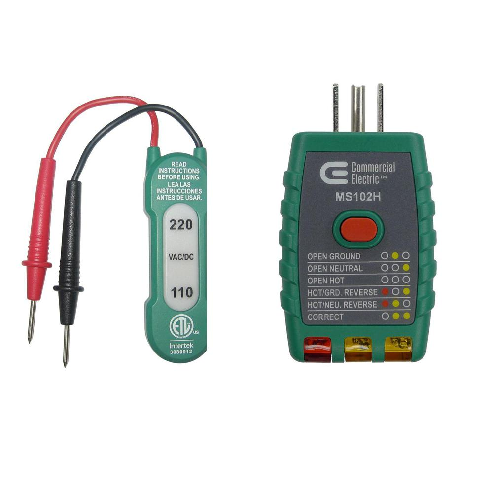 medium resolution of 110 220v ac dc voltage tester with gfci outlet tester