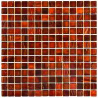 Merola Tile Coppa Genghis Red 12 in. x 12 in. x 4 mm Glass ...
