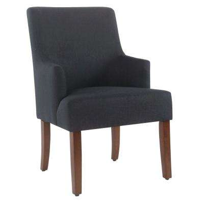 upholstered arm dining chair woman sitting in upholstery chairs kitchen meredith indigo