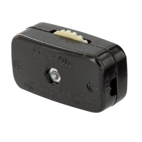 small resolution of leviton 6 amp mini thumb wheel cord switch brown