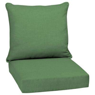 green chair cushions covers rentals in dallas arden selections outdoor 24 x moss leala texture 2 piece deep seating lounge cushion