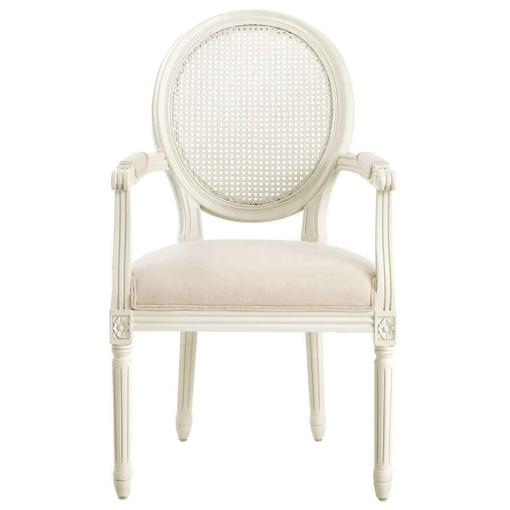 oval back dining room chairs how to make a baby shower chair home decorators collection jacques antique ivory arm 9946320350 the depot