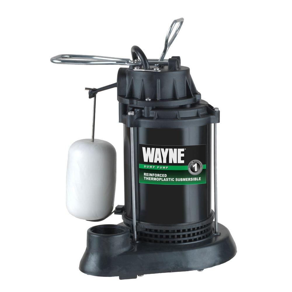 hight resolution of wayne 1 2 hp thermoplastic sump pump