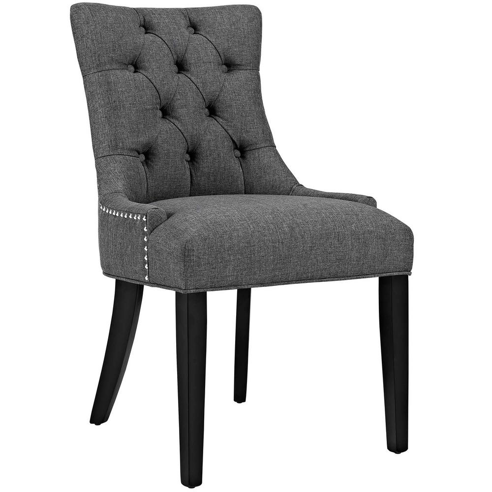 dining chairs fabric home office without wheels modway regent gray chair eei 2223 gry the depot