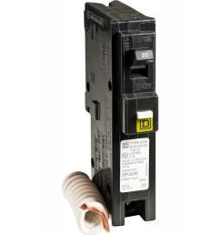 square d homeline 20 amp single pole combination arc fault circuit breaker [ 1000 x 1000 Pixel ]
