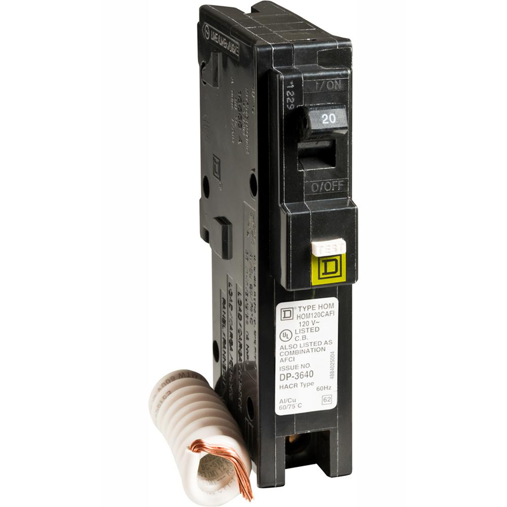 hight resolution of square d homeline 20 amp single pole combination arc fault circuit breaker