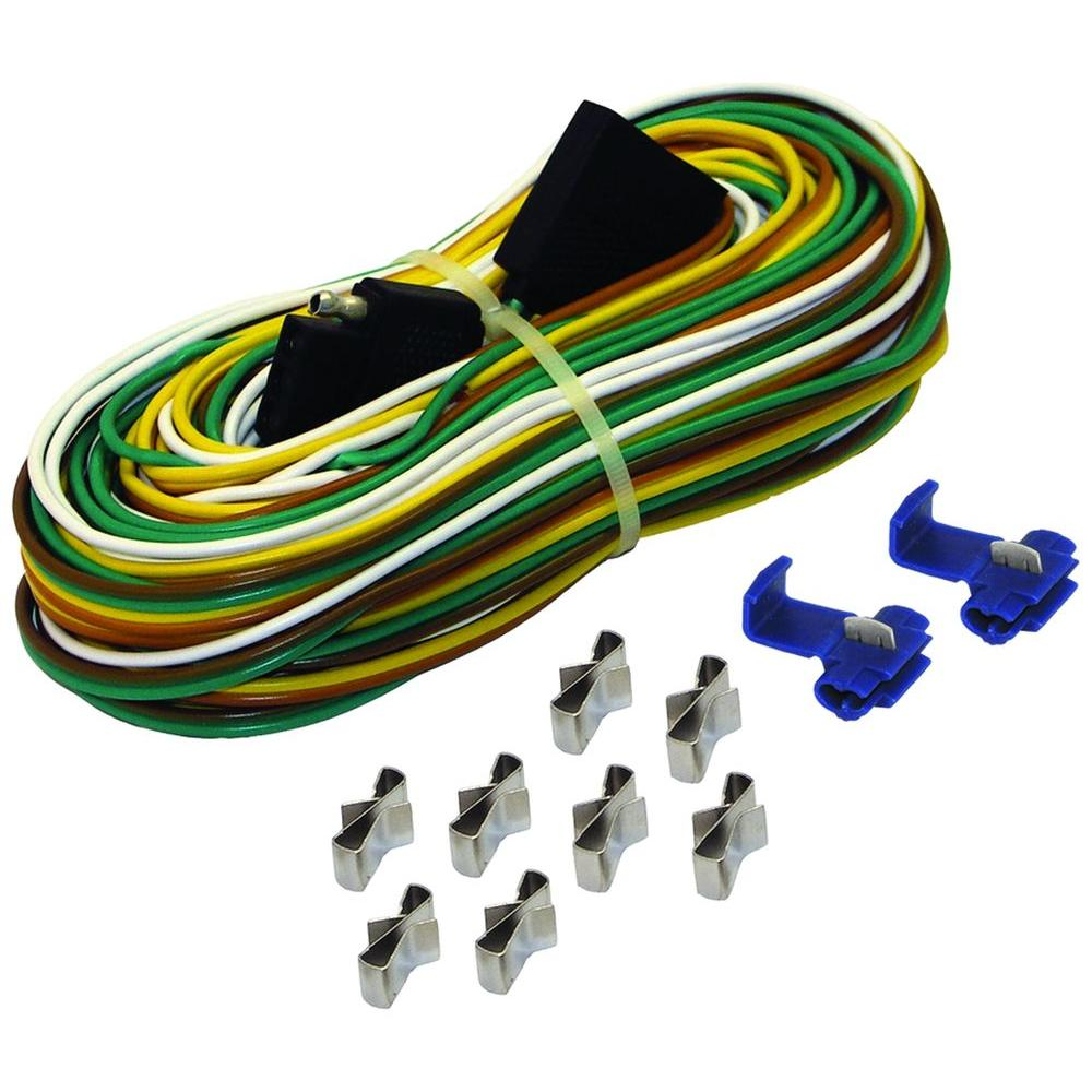 hight resolution of 25 ft trailer wire harness with full ground br59373 the home depot nissan pathfinder trailer wiring