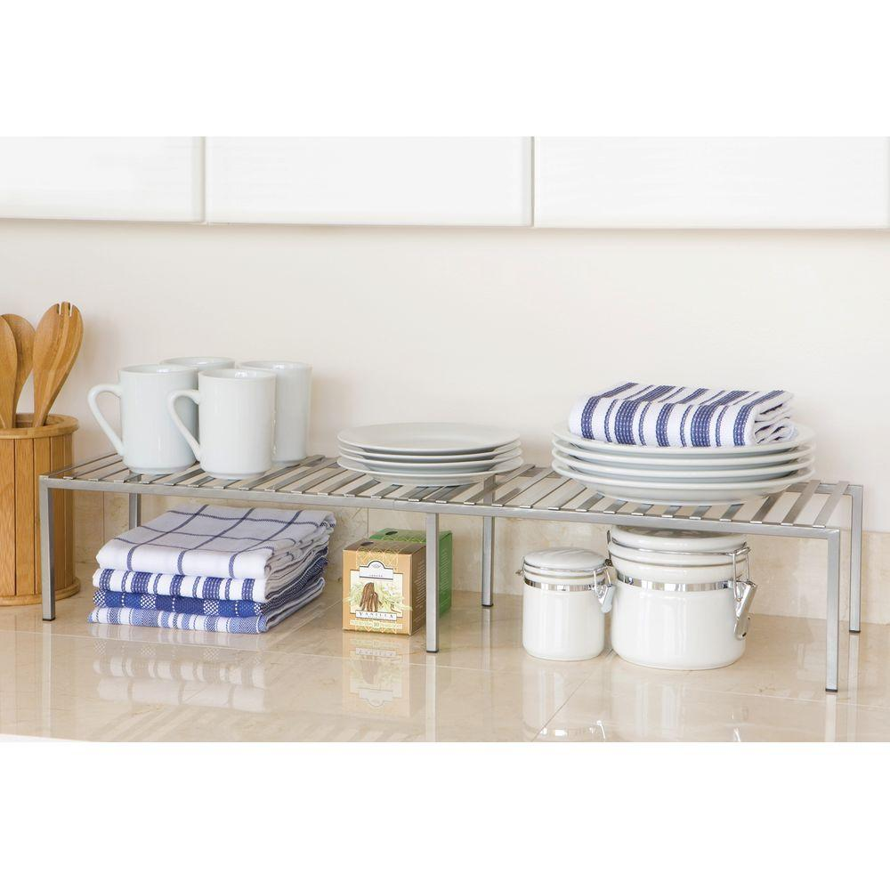 kitchen counter organizer replace sink seville classics expandable and cabinet shelf