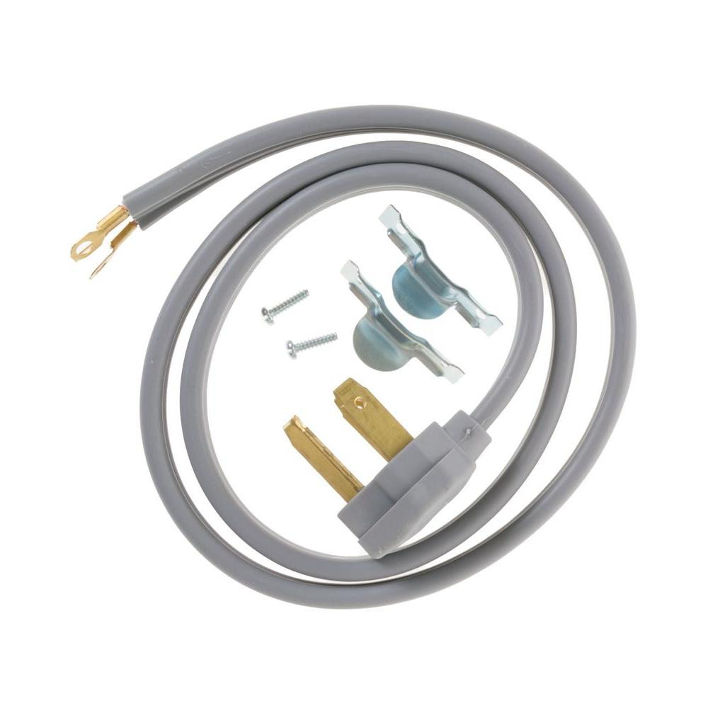 hight resolution of ge 4 ft 3 prong 30 amp dryer cord wx09x10002ds the home depot wiring diagram 40 amp 3 prong plug