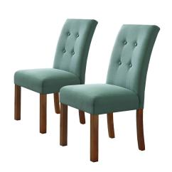 Parsons Chairs Chair Covers For Dining Homepop 4 Button Teal Tufted Aqua Textured Parson K6378 F1374