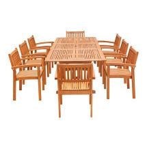 Vifah Eco-friendly 9-piece Wood Outdoor Dining Set With