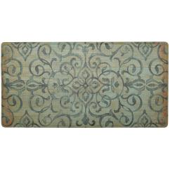 Green Kitchen Mat 36 Round Table Set Nicole Miller Cook N Comfort Rustic Medallion 20 In X 39