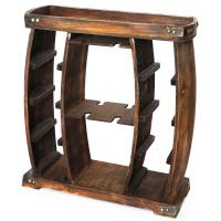 Vintiquewise 8-Bottle Brown Rustic Wooden Wine Rack with ...