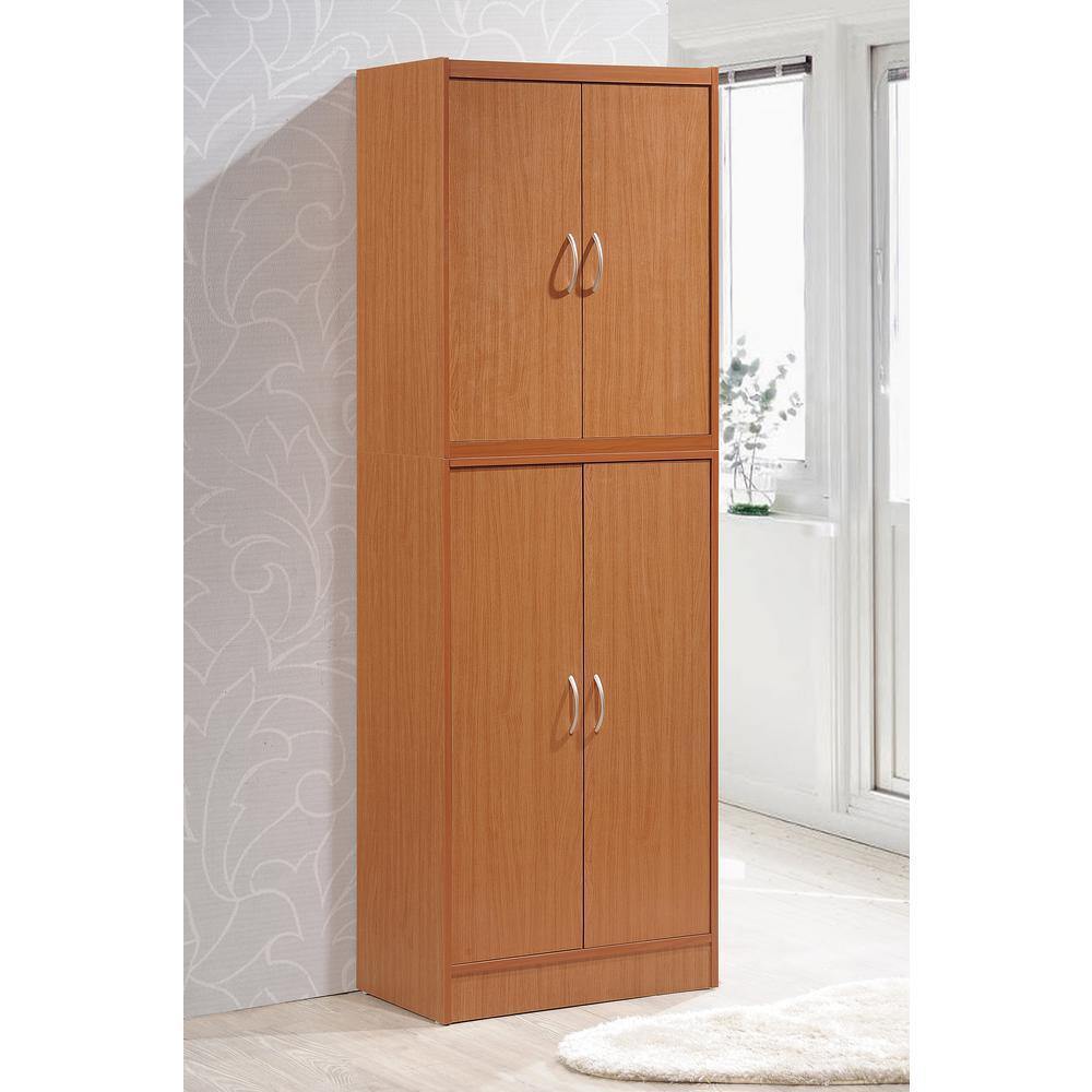 kitchen pantry sink faucet hodedah 4 door cherry hi224 the home depot
