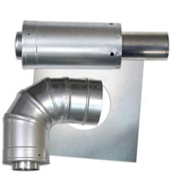3 in x 5 in horizontal stainless steel concentric termination vent [ 1000 x 1000 Pixel ]