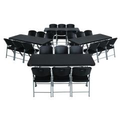 Lifetime Chairs And Tables Wrought Iron Lounge Chair 28 Piece Black Folding Table Set 80440 The Home